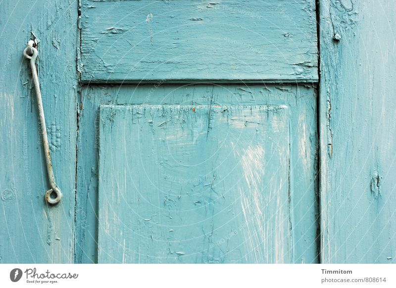 Shutter. House (Residential Structure) Metalware Wood Esthetic Simple Blue White Emotions Crack & Rip & Tear Line Weathered Colour photo Subdued colour
