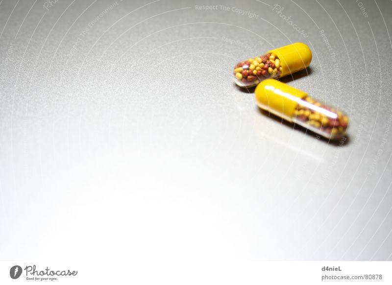 Vitamin bombs 1 Health care Yellow Pill Healthy Bitter Gray Hope Awareness Interior shot Vitamin-rich Macro (Extreme close-up) Close-up healers Bright Joy