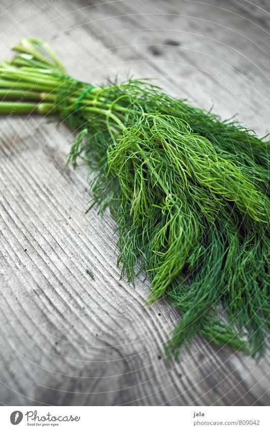 dill Food Herbs and spices Dill Organic produce Vegetarian diet Healthy Eating Simple Fresh Delicious Natural Green Wooden table Colour photo Exterior shot