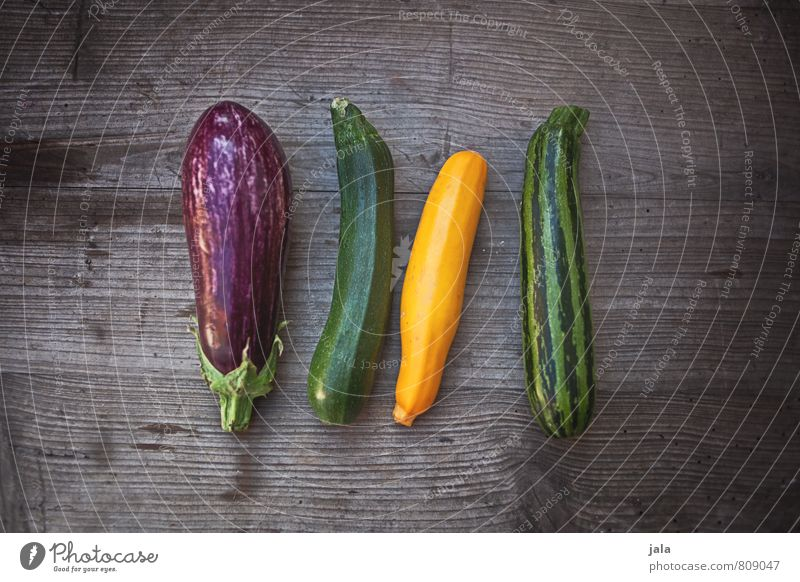 Healthy Eating Natural Food Fresh Nutrition Vegetable Delicious Appetite Organic produce Vegetarian diet Wooden table Zucchini Aubergine