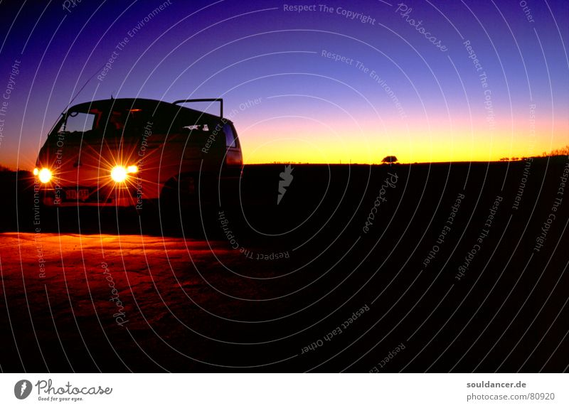 Vacation & Travel Calm Style Car Horizon Adventure Travel photography Desert Violet Dusk Australia Car headlights Carriage To be silent Color gradient Outback