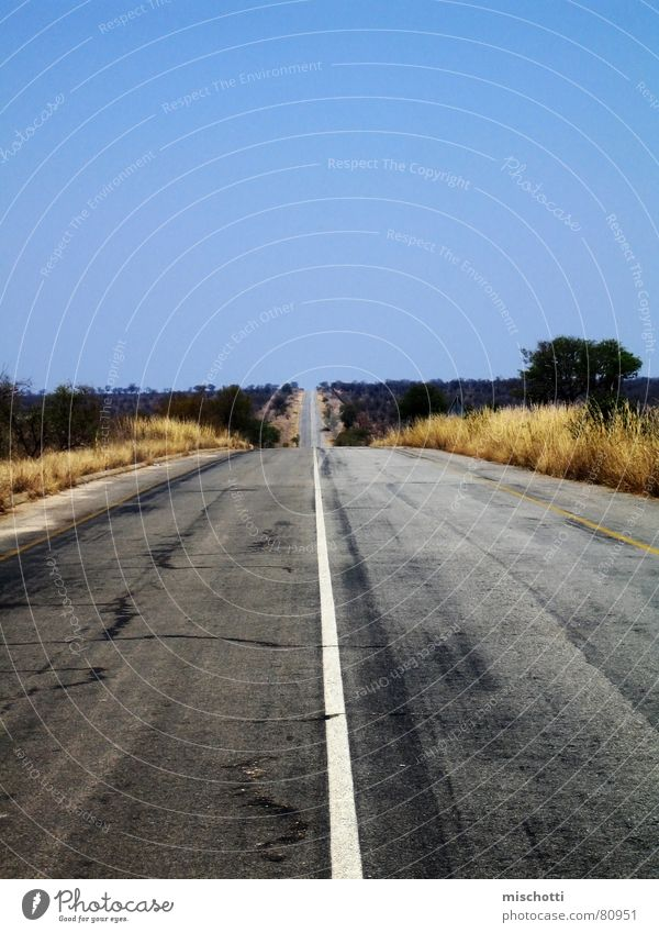 Loneliness Far-off places Street Lanes & trails Empty Africa Desert Asphalt Highway Traffic infrastructure Pavement Steppe Badlands South Africa Country road Freeway