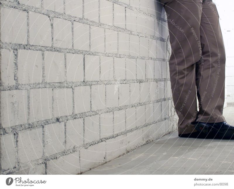 Gray Wall (barrier) Feet Footwear Legs Pants Brick