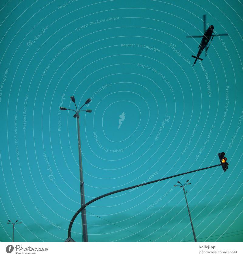 goodmorning potsdam To switch Vietnam Rebel Clarify Potsdam Aerial warfare Lamp Lantern Traffic light Yellow Helicopter War Brandenburg Street lighting