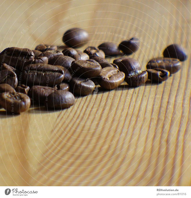 Dark Wood Warmth Brown Table Coffee Stripe Physics Café Delicious Wooden board Heap Wood grain Alert Beans Coffee bean