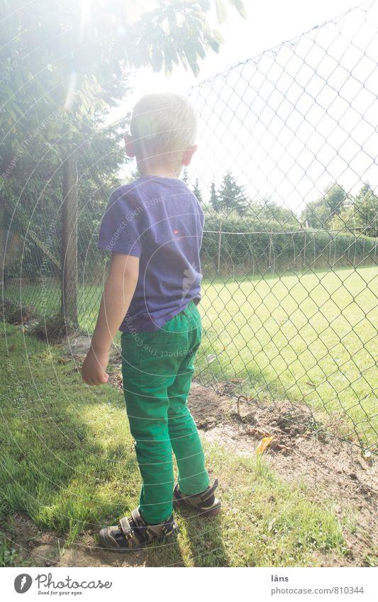 Human being Child Summer Life Meadow Boy (child) Garden Body Infancy Stand Wait Beginning Threat Study Protection Curiosity