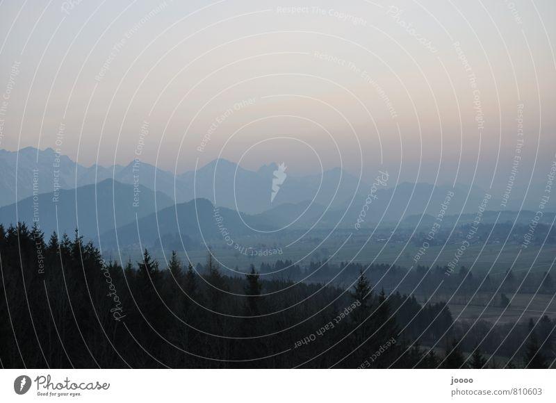 Landscape Horizon Fog Peak Alps Serene Allgäu Alps