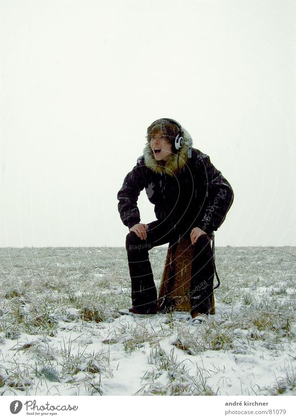 Far-off places Snow Field Music Fog Pelt Concert Scream Headphones Basket