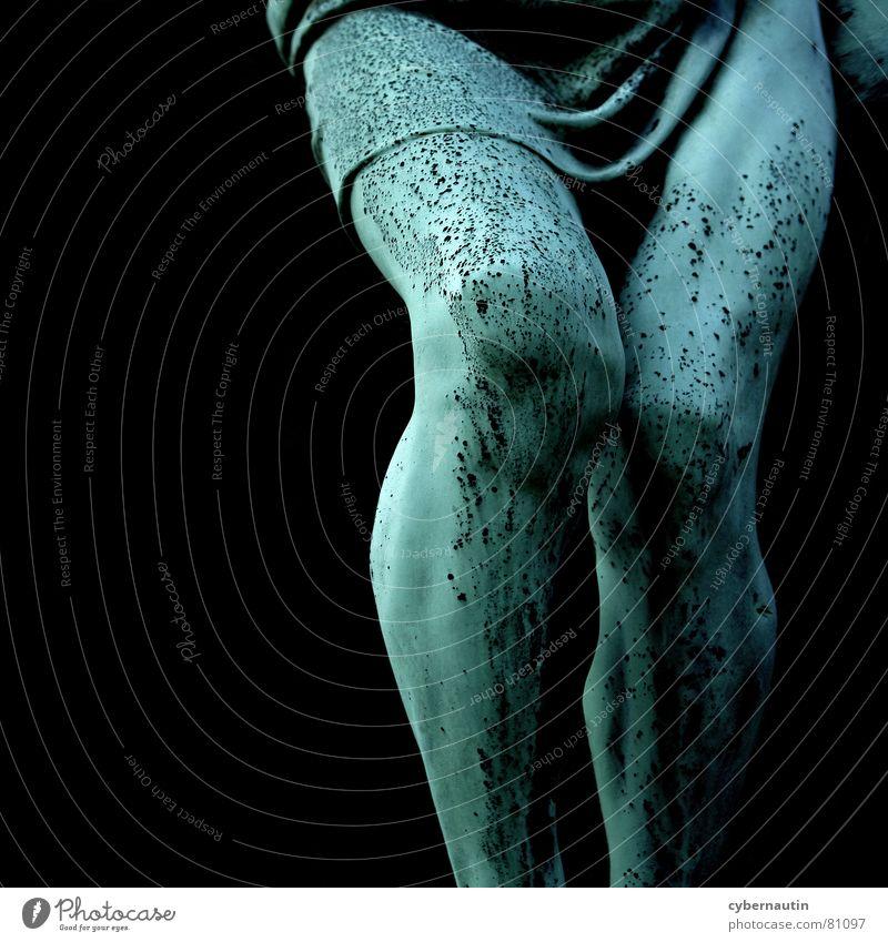 Jesus legs Cemetery Human being Bronze Verdigris Masculine Jesus Christ Biblical Landmark Monument Legs