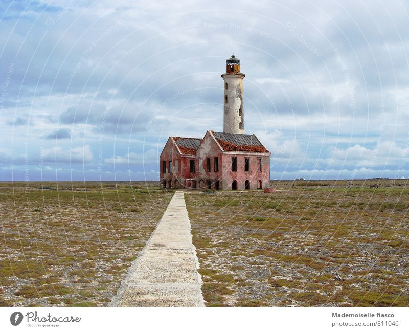 Collapsing lighthouse ruin Far-off places Freedom Ruin Lighthouse Old Creepy Loneliness Stagnating Decline Transience Colour photo Exterior shot Day Past Broken