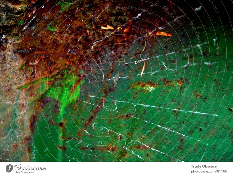 The network Spider Building lot Background picture Surface Iron Derelict Multicoloured Construction site Work and employment Dirty Dark Appearance Old Putrefy