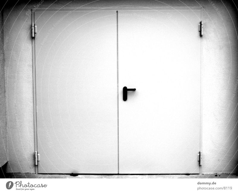 EXIT 2 Way out Architecture Door Black & white photo exit kaz