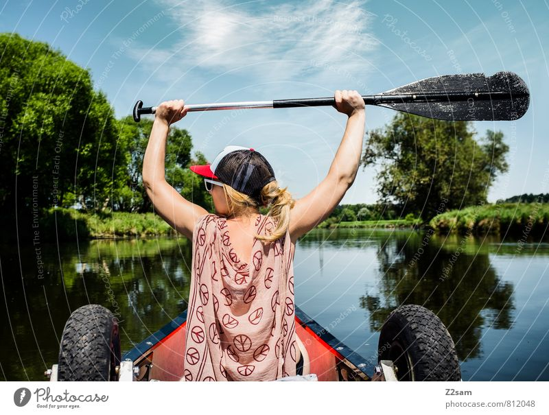 Pirate II Vacation & Travel Trip Adventure Summer vacation Aquatics Feminine Young woman Youth (Young adults) 18 - 30 years Adults Landscape Sky Tree Bushes