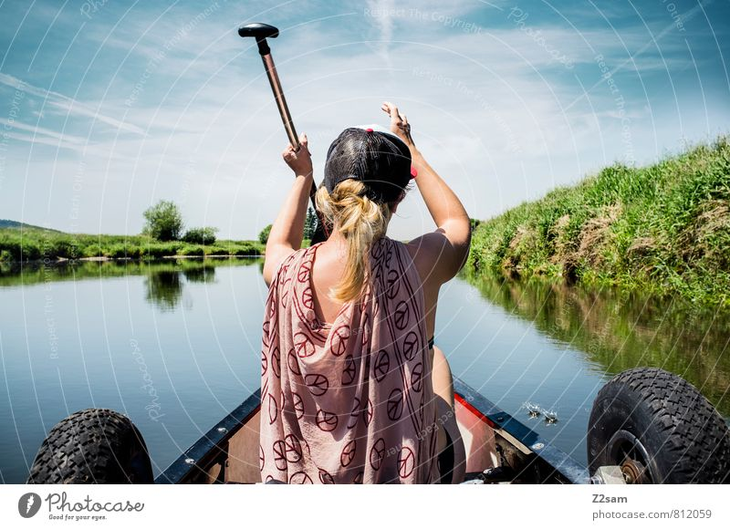pirate Vacation & Travel Trip Adventure Summer vacation Aquatics Feminine Young woman Youth (Young adults) 18 - 30 years Adults Nature Landscape Sky Bushes