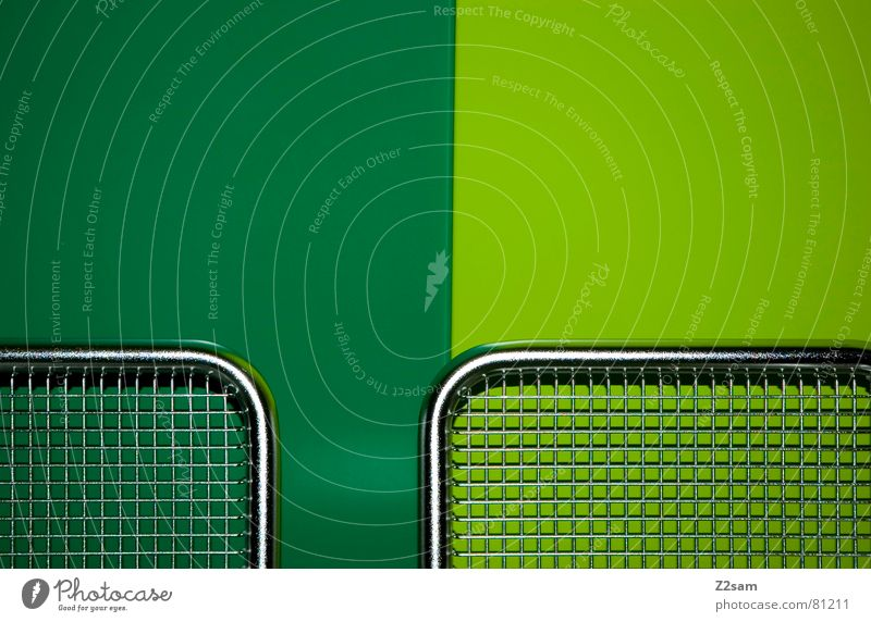 Green Dark Bright Metal Modern Net Simple Silver Seating Graphic Grating Reduce Dark green Bright green Side by side