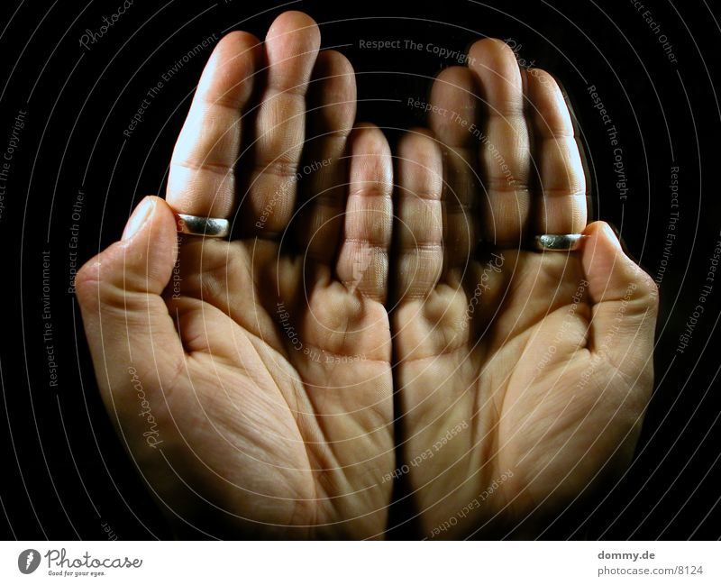 Man Hand Circle Mirror