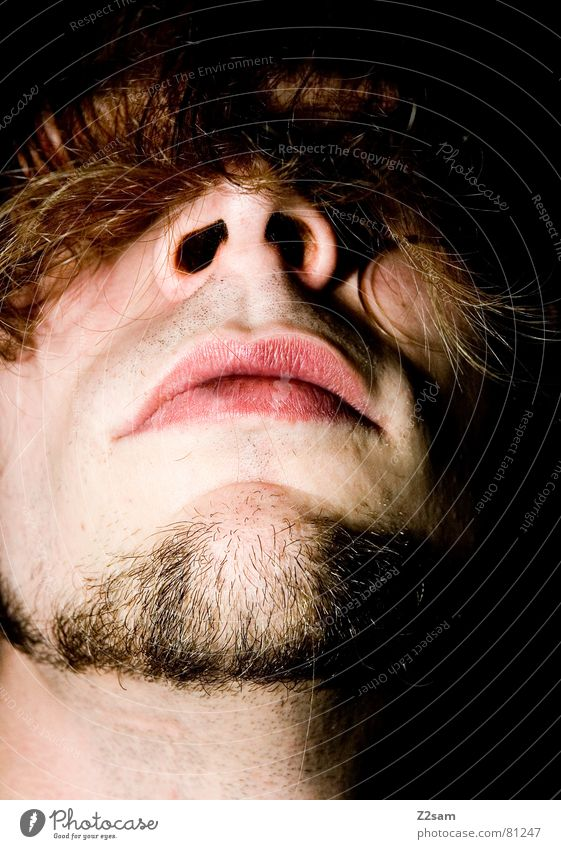 Man Face Hair and hairstyles Head Mouth Nose Facial hair Hide Concealed Right ahead