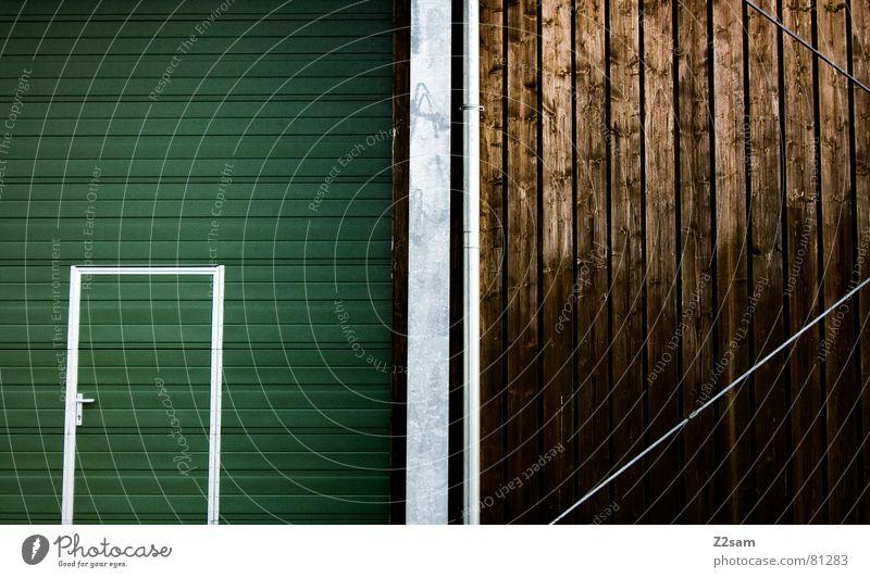 Green Window Wood Line Brown Metal Glittering Door Rope Modern Simple Stripe Castle Gate Steel