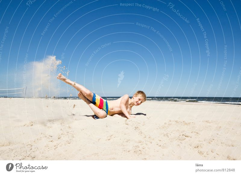 Spot landing - raging child on the beach Vacation & Travel Tourism Summer Summer vacation Sun Beach Ocean Boy (child) Infancy Youth (Young adults) 1 Human being