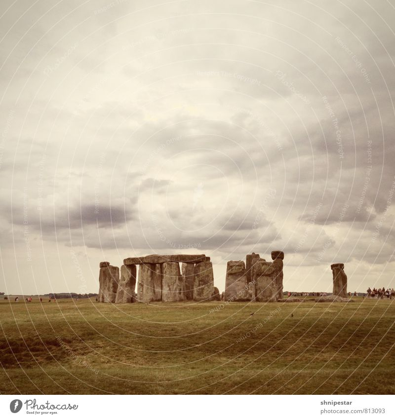 Stonehenge Vacation & Travel Tourism Trip Far-off places Sightseeing Expedition Summer vacation Culture Stone circle Past Environment Nature Landscape