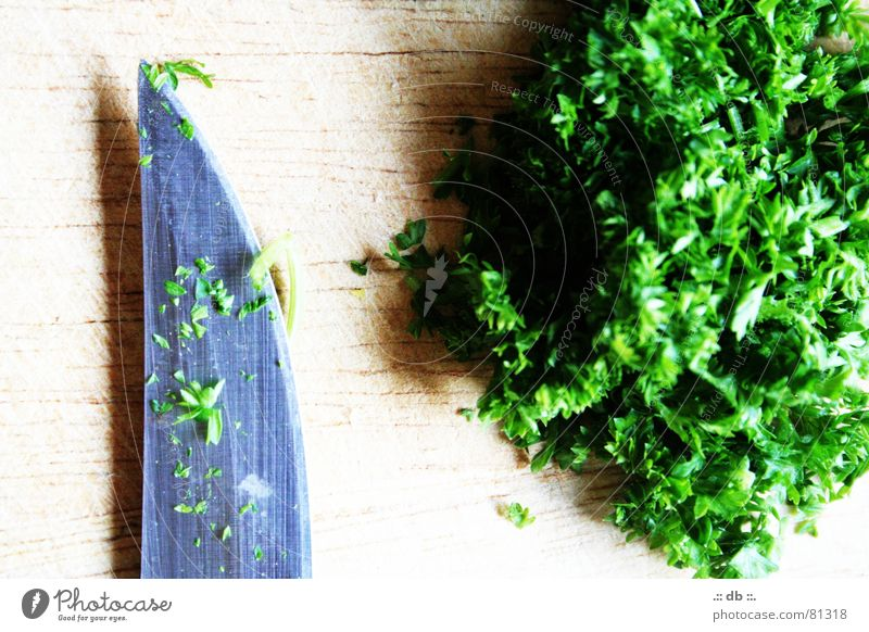 .:: PETERsilie ::. Parsley Kitchen Green Cooking Cut Knives Wooden board Vegetable