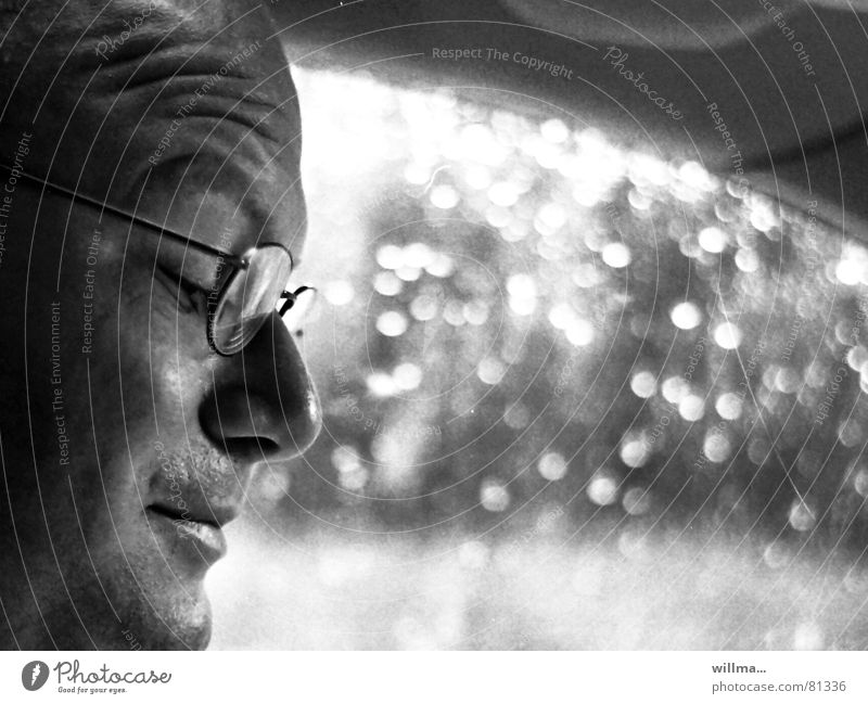 Vacation & Travel Rain Car Eyeglasses Concentrate Stress Distress Motoring Orientation Navigation Road traffic Vision Perspire Perspiration Car driver