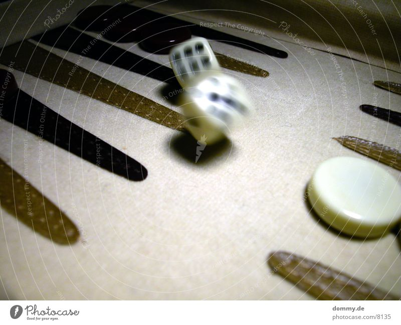 alea iacta est ... 1 Backgammon Black White Digits and numbers Blur Macro (Extreme close-up) Close-up Movement Dice