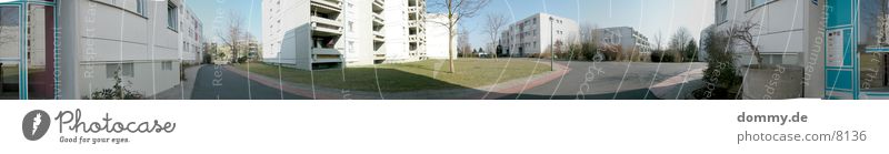 House (Residential Structure) Life Meadow Architecture Large Panorama (Format) Bavaria Ghetto Franconia Würzburg