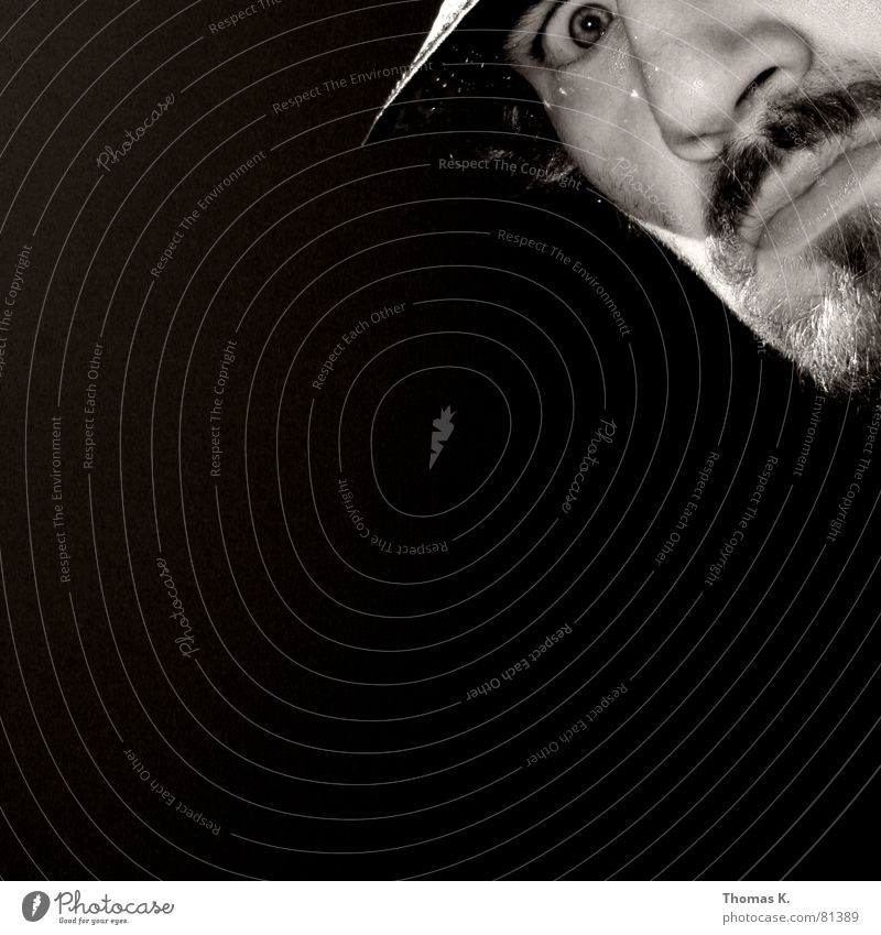 Integral (oder™: ?) Right Black White Facial hair Gray Man Above Hat Face
