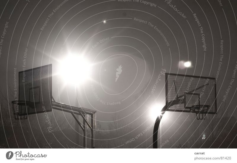 Second Goooaaal! Energized Background lighting Round Red Large Basket Black Moody Night Dark Tripod Exterior shot Long exposure Sports Playing