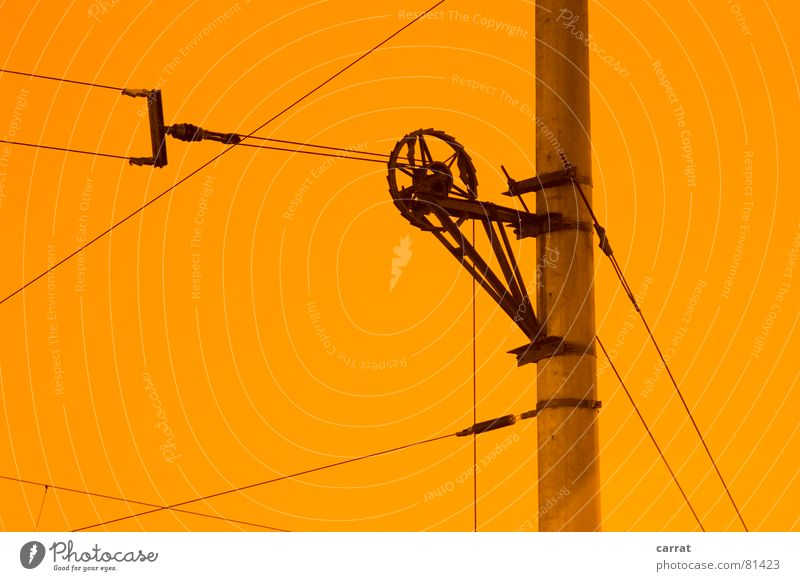 Yellow Colour Movement Air Line Concrete Electricity Cable Wheel Illustration Coil Graphic Tram Flashy Prop Overhead line