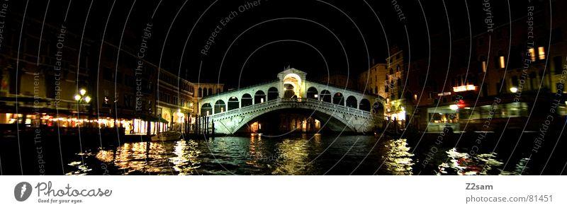 Water Dark Watercraft Bridge Italy Lantern Exposure Venice Rialto Bridge