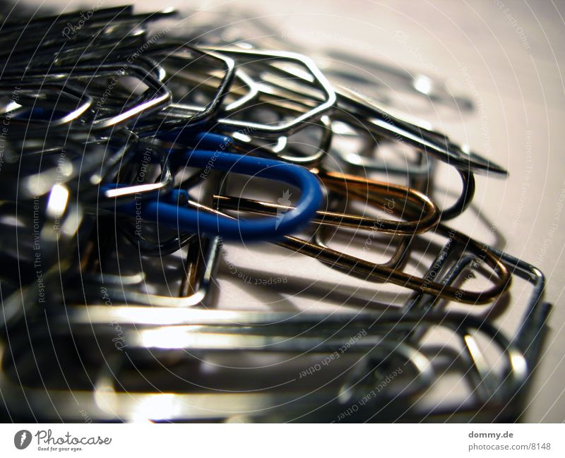 Blue To hold on Paper clip