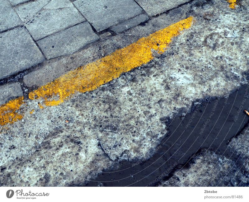 Water Old Blue Yellow Snow Gray Ice Line Dirty Rope Transport Gloomy Broken Asphalt Derelict Border