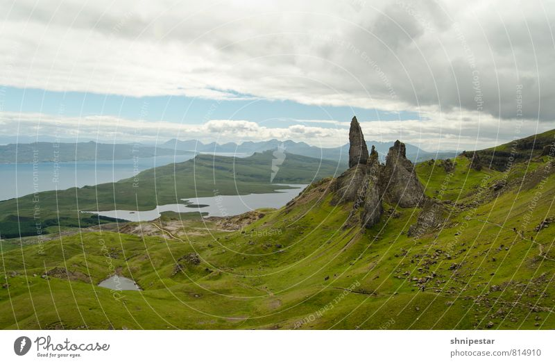 Old Man of Storr Isle of Skye, Scotland. Vacation & Travel Tourism Summer Island Mountain Hiking Environment Nature Landscape Elements Earth Climate Weather