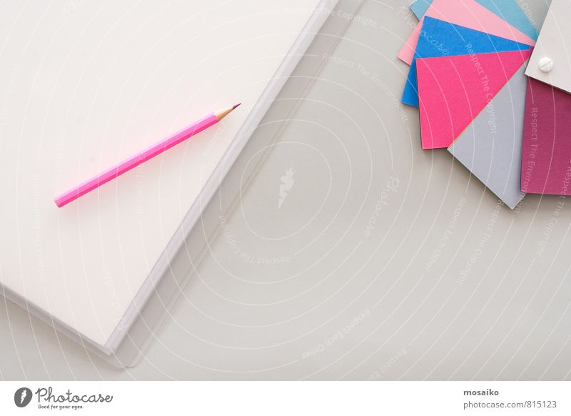 Gray Background picture Art Pink Work and employment Business Office Contentment Table Clean Paper Idea Uniqueness Planning Painting (action, artwork) Culture