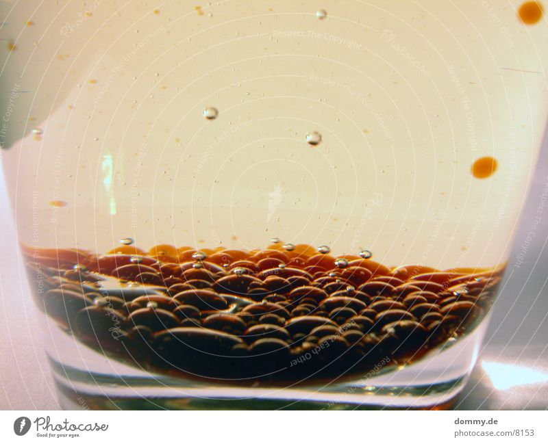 individual drink 3 Vinegar Magic Alcoholic drinks Oil Surface tension Air bubble Close-up Magnifying effect Detail Macro (Extreme close-up) Round Many Glass