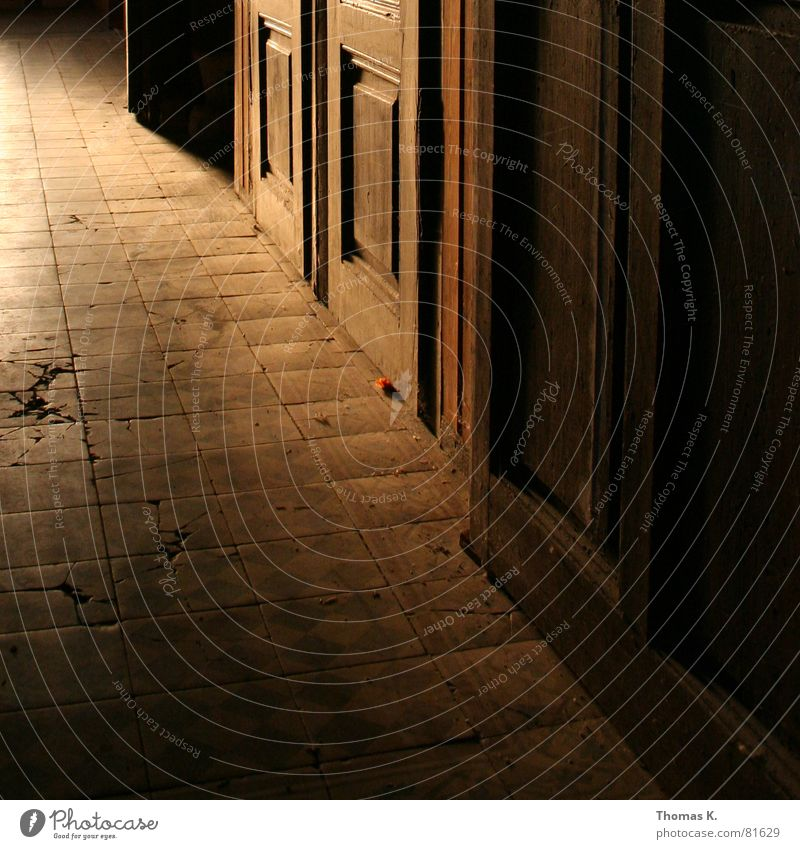 Old Dark Warmth Room Door Floor covering Wing Physics Tile Gate Entrance Hallway Door handle Prefab construction Passage