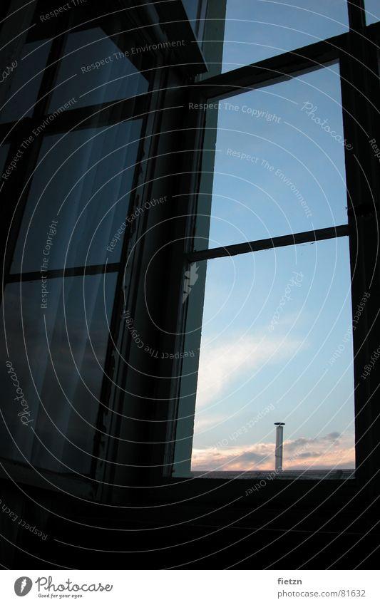 longing Window Dream Clouds Longing Window board Daydream Reflection Bedroom Freedom Sky Chimney Glass Fiber