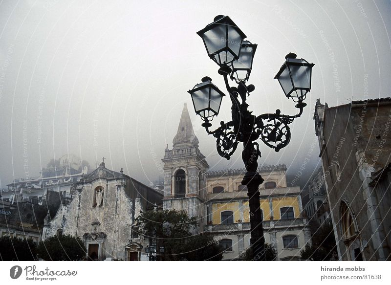 Calm Loneliness Sadness Religion and faith Fog Grief Gloomy Italy Lantern Historic Traffic infrastructure Badlands Vail Old town House of worship To be silent
