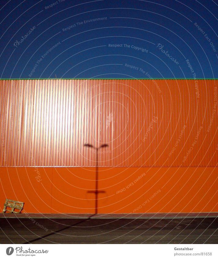 Orange Blue II Formulated Factory Wall (building) Lamp Palett Warehouse Territory Darken Depot Industry Shadow Sky Storage goods depot