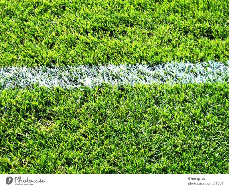 Green Summer Sports Playing Line Soccer Field Dirty Corner Mud