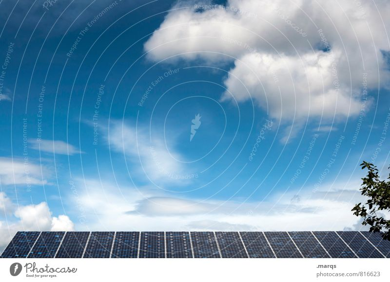 solar Technology Science & Research High-tech Energy industry Solar Power Energy crisis Solar cell Environment Nature Sky Clouds Beautiful weather Roof