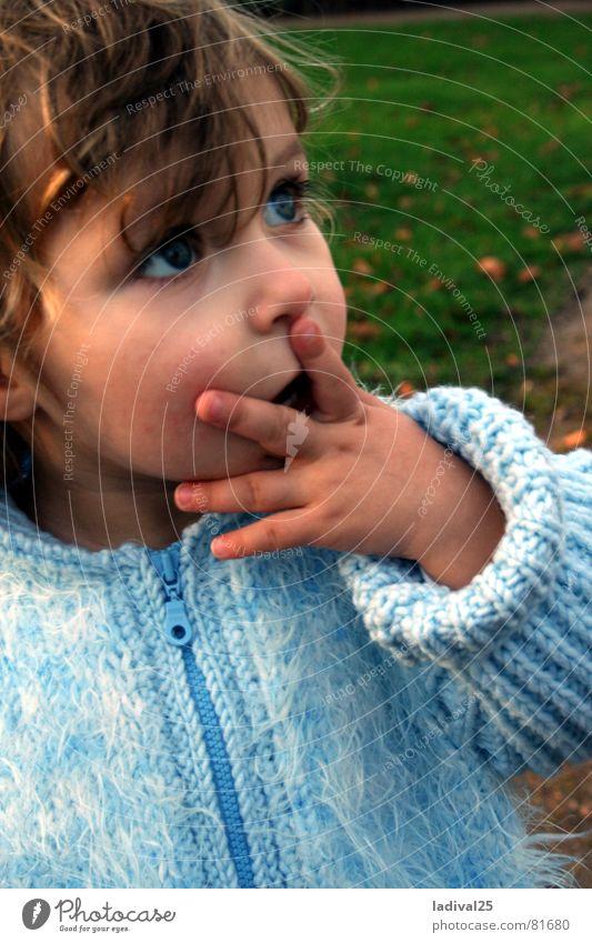Child Blue Eyes Fingers Jacket Toddler Coat Curl Amazed Marvel
