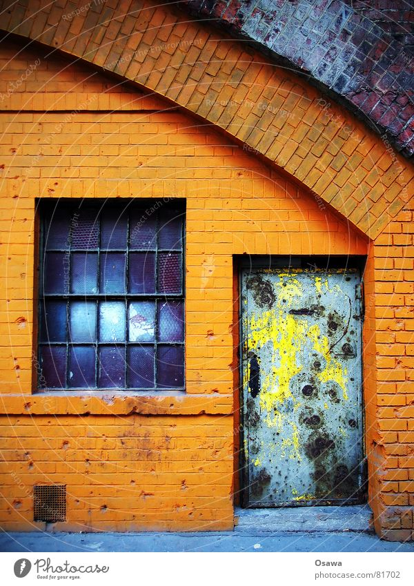 Berlin Window Stone Wall (barrier) Orange Door Sphere Gate Derelict Brick Historic Entrance Hollow War Door handle Weapon