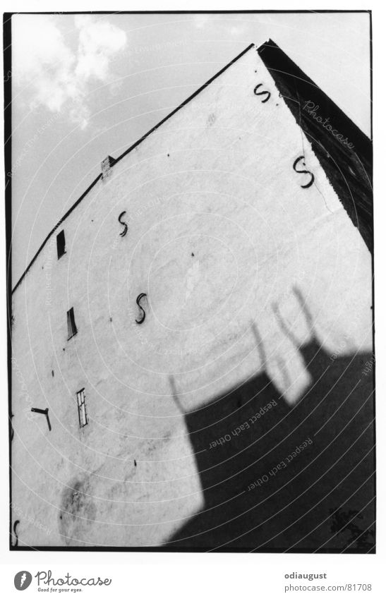 it was a house this big. House (Residential Structure) Old building Summer Window Architecture Berlin Shadow Sun Black & white photo
