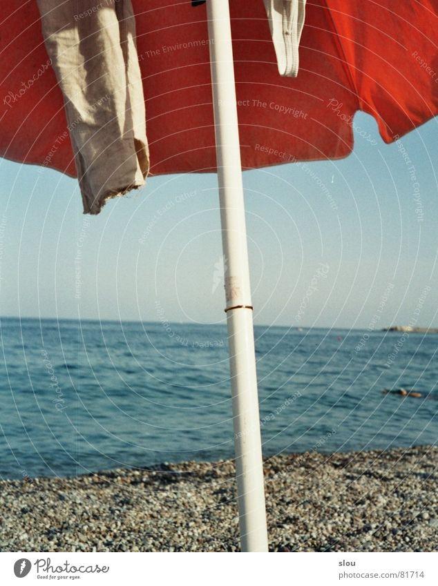 Water Blue Summer Beach Ocean Colour Gray Sand Stone Coast Waves Orange Rock Island Clothing Italy