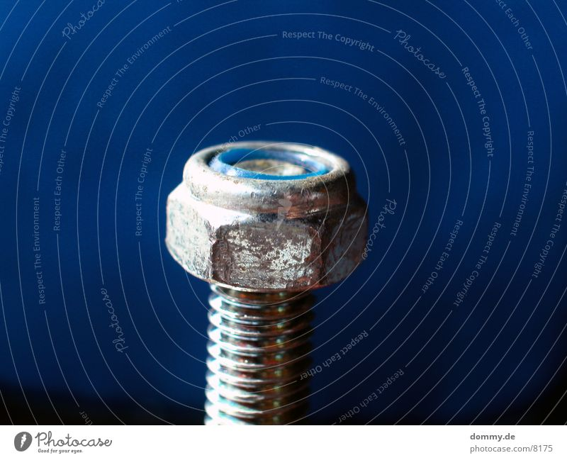 Blue Silver Screw Screw thread