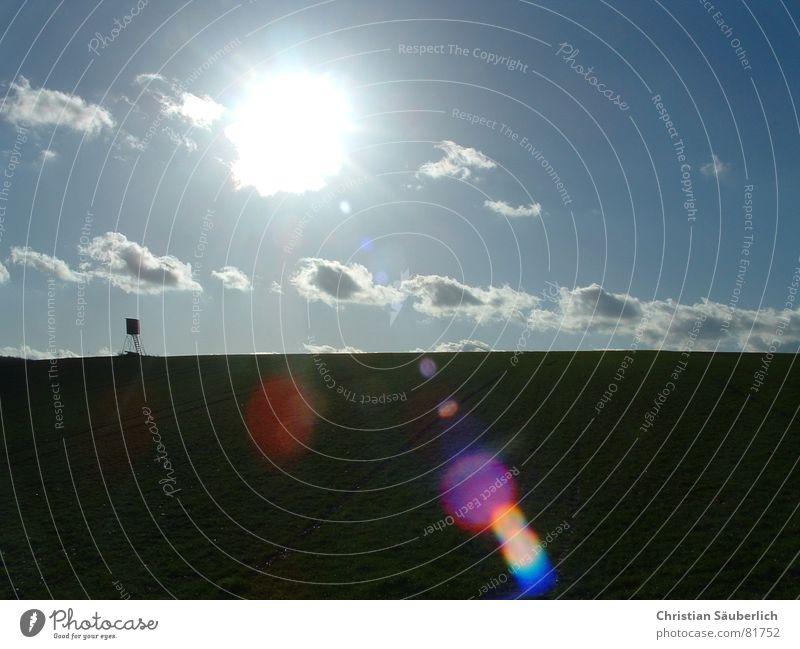 Sky Sun Joy Clouds Landscape Horizon Hunting Hunter Hunting Blind