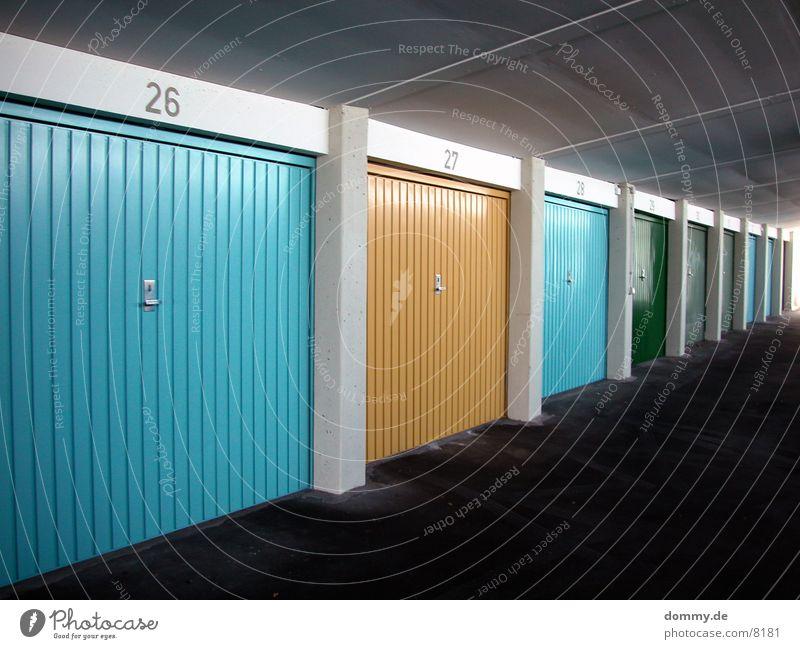 Green Blue Yellow Colour Architecture Gate Garage